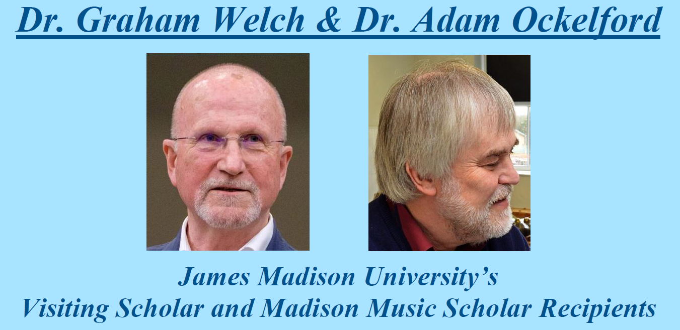 Visiting Scholar and Madison Music Scholar Residency, March 26-28, 2019
