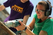 Photo of JMU students helping to rebuild a house in New Orleans, La.