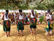 Cameroonian Villagers take part in community activity