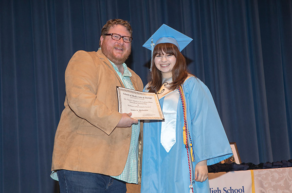 student awarded with the bryd mims