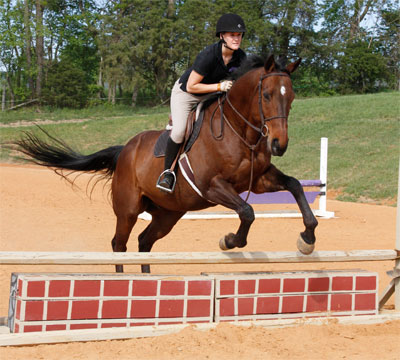 Bekah Jarzombek trains at Seventh Heaven Farm at Mauzy