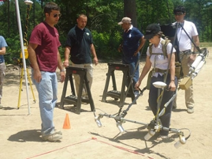 Course participants see equipment demonstration.