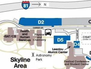 astronomy park map