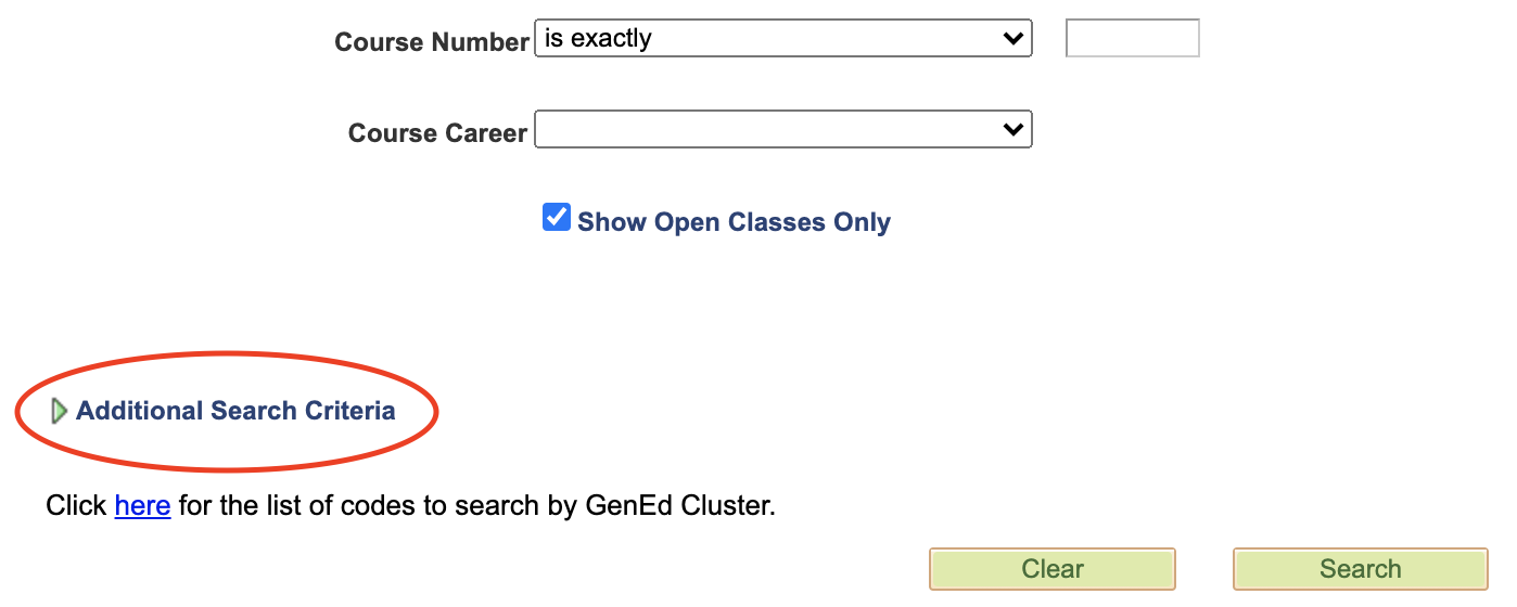 James Madison University - Online Class Search