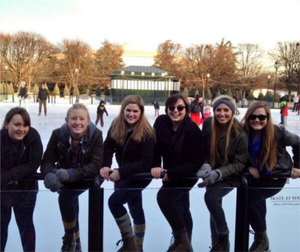 Washington Semester Ice Skaters, Spring 2014